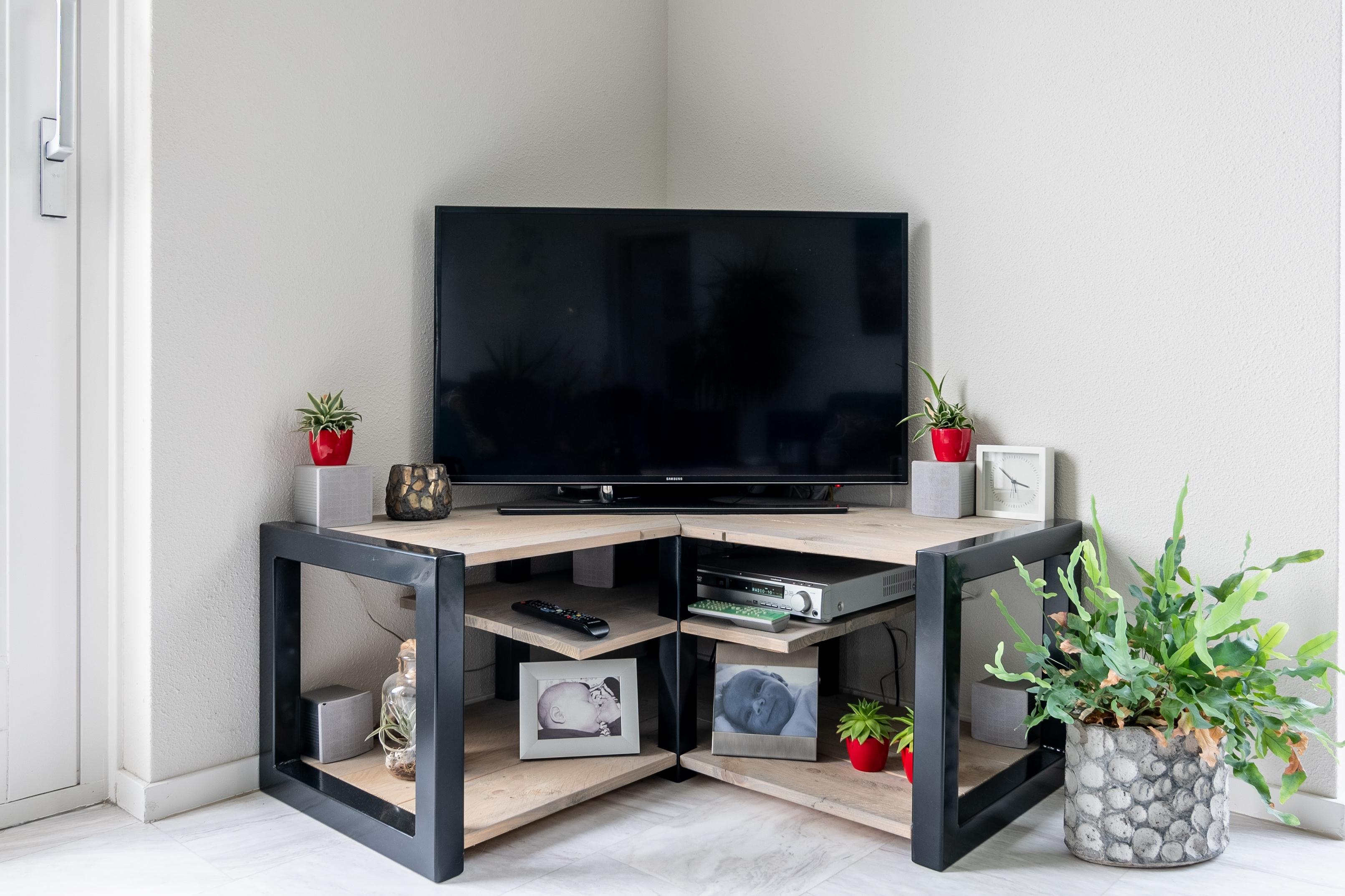 Tv Meubel Zwart Staal.Dressoirkast En Tv Meubel Brent New Meubel Interieur